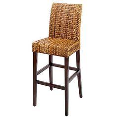 Elana banana leaf bar stool (set of 2) - love the variation of color