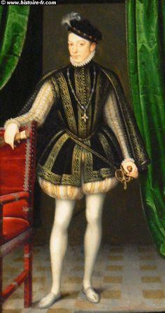 Charles IX, roi de France, par François CLOUET, XVI° siècle, musée du Louvre, Paris.