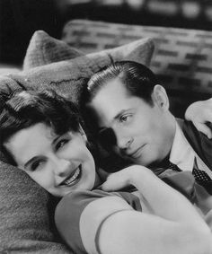 """Norma Shearer and Robert Montgomery in """"Private Lives"""" (1931)"""