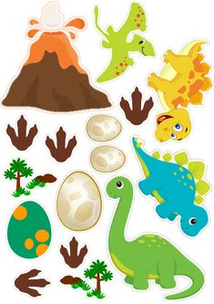 Dinosaur Cake Toppers, Dinosaur Birthday Cakes, Die Dinos Baby, Baby Dino, Peppa Pig Stickers, Baby Boy Cake Topper, Crochet Lamp, Pin Up Drawings, Cupcakes For Boys