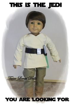 Jedi Star Wars Outfit 18 Inch Doll Clothes for by TwiceLovedDolls