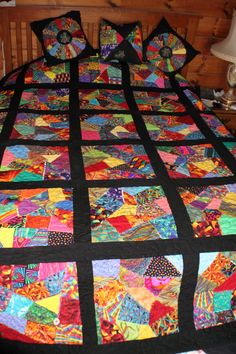How to Sew an Easy Crazy Quilt Block | Patrones de colchas ... : crazy quilting for beginners - Adamdwight.com