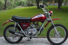 1971 Honda SL70. custom red paint