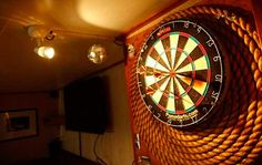 Great, economic backboard for a dart board.