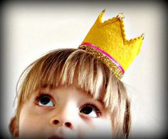blue and yellow little prince crowns for the boys