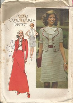 Vintage Simplicity's Factory Folded Dress Jacket Pattern 6601 Size 16 Bust 38 circa 1974 by EvaStAlbans on Etsy