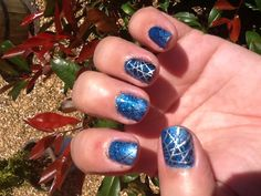 Shellac glitter and stamping