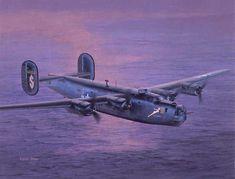 CONSOLIDATED B-24J LIBERATOR Illustrated by Shigeo Koike , イラスト:小池繁夫氏