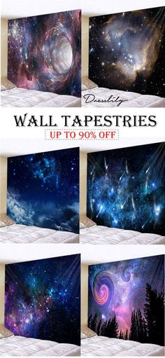 Extra 12% OFF Code: DL123. Home decor ideas: Galaxy Print Tapestries. #dresslily #tapestry #apartment