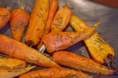 Roasted Carrots with Rosemary @vivaedtions gets the BEST recipes from #LazyGourmet Cookbook!