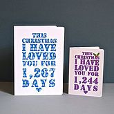 Personalised Christmas Days I've Loved You Card - gifts