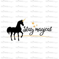 Stay Magical SVG, Unicorn SVG file, unicorn cut file, unicorn decal svg, svg for Cricut, vinyl template, instant download, svg cuttable by pixelphoenixdesigns on Etsy https://www.etsy.com/au/listing/529781703/stay-magical-svg-unicorn-svg-file
