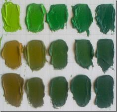 VERDE-AMARILLOS2 Elly Smallwood, Painting Lessons, Neutral Colors, Color Tones, Palette, Color Theory, Food Coloring, Watercolour Painting, Art Studios