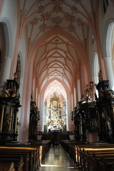Mondsee Church, Austria. Featured in the wedding scene in 'The Sound of Music'.