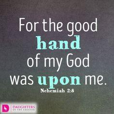 Daily Devotional -God's Gracious Hand: http://daughtersofthecreator.com/gods-gracious-hand/