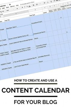 You Need a Content Calendar for Your Blog. Learn how to use and create a content (or editorial) calendar for your blog and why a content calendar is important.