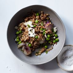Despite its name, the Purple Pig serves fantastic vegetarian dishes like this lovely, light grain salad. Red pearl onions are worth seeking out here; they lend a wonderful sweetness and a beautiful purple hue to the combination of tender peas, creamy feta and nutty faro.