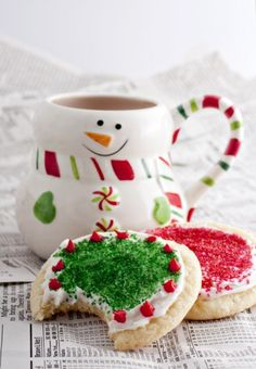 Christmas Frosted Sugar Cookies :)