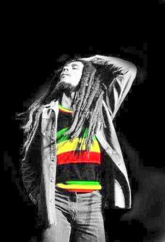 Bob Marley in the moment
