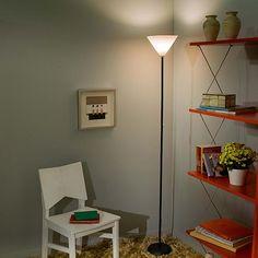 Luminária de Chão Palito Preta/Branca - Orb                                                                                                                                                                                 Mais