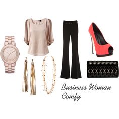 Business Woman Comfy, created by megschlitz on Polyvore