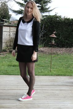 Pantyhose Outfits, Pantyhose Fashion, Pantyhose Legs, Tights Outfit, Nylons, Geek Chic Outfits, Rock Outfits, Skirt Outfits, Zendaya Mode