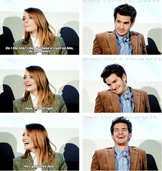 """Emma Stone and Andrew Garfield  """"Do you really like Andrew in real life?"""""""