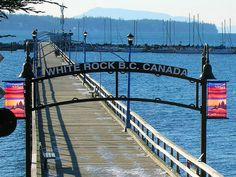 "Walk the pier at White Rock BC Canada. And watch boys jump off the end while being egged on by the crowd. ""Do a flip! Victoria Vancouver Island, Vancouver City, North Vancouver, Beautiful Places To Visit, Places To See, Places Ive Been, Sea To Shining Sea, Quebec City, Oui Oui"