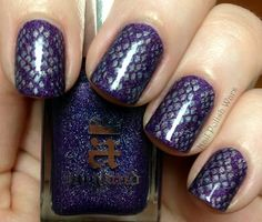 Color Club Worth the Risque stamped over a-england Lady of the Lake