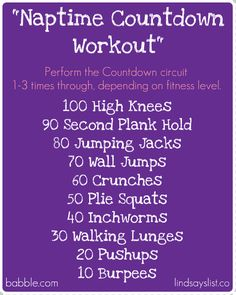 great idea, but I think I'd want the nap for myself after looking at this!! // at home workout