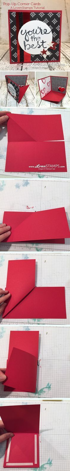 LovenStamps Video Tutorial: How to make a Pop-Up Corner Card, all supplies by Stampin' Up!, get your own project kit at LovenStamps.com with Stamps in the Mail Club