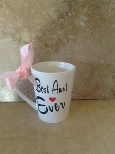 Best Aunt Ever Coffee Mug Best Friends by Craftydoodlebugs on Etsy