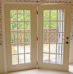 Wonderful Revival Blue Prehung Left Hand Inswing French Patio Door With Brickmould  And Blinds | French, Patio And Blue