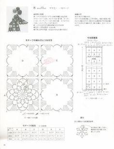 08 - Crocheted flowers scraft....❤ ᗜ ❤*