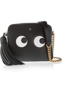 Anya Hindmarch | Eyes embossed leather shoulder bag | NET-A-PORTER.COM