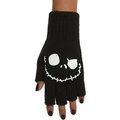 The Nightmare Before Christmas Jack Fingerless Gloves  