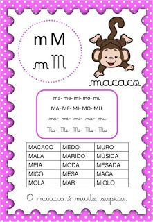Apostila com sílabas simples Supernanny, Portuguese Lessons, English Reading, English Words, Reading Activities, Good Books, Homeschool, Writing, Math