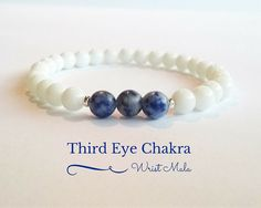 Third Eye Chakra bracelet appropriate both for women and men  Feel the comforting properties of the chakra stones while wearing the mala bead bracelets