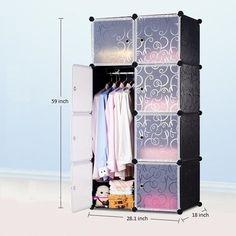 8 Cube Portable Closet Storage Organizer Clothes Wardrobe Cabinet with doors | eBay & 6 Cube Portable Closet Storage Organizer Clothes Wardrobe Cabinet ...