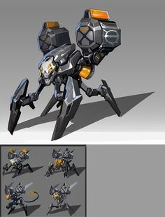Old work 4 by Dead Man on ArtStation. Robot Concept Art, Weapon Concept Art, Muse Drones, Character Concept, Character Design, Power Rangers, Arte Robot, Cool Robots, Sci Fi Weapons