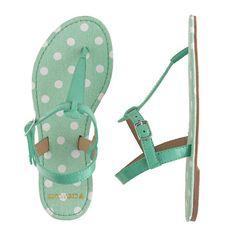 c8e10dd7820ec3 Girls  patent T-strap sandals in polka dot