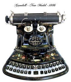 Antique Typewriters - Crandall - New Model - 1886.