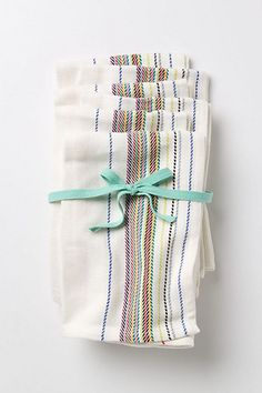 These Herringbone Napkin Bundle at anthropologie are a set of six for $32 and a great gift for someone who likes casual summer entertaining.