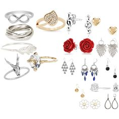 £15 and under by emma16-scott on Polyvore featuring polyvore fashion style Carolee City x City Bling Jewelry Cheap Monday Simply Vera Accessorize River Island Snö Of Sweden Jewel Exclusive Simply Silver