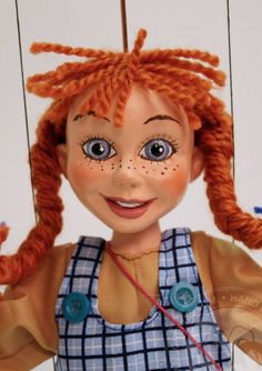 Marionette  Pippi Longstocking from CzechMarionettes traditional handmade collection (made in Czech Republic)