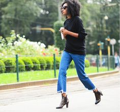 Meet Spring's Biggest Denim Trend via @WhoWhatWear *crop fray denim*