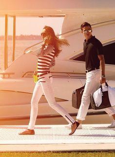 Nautical woman and man
