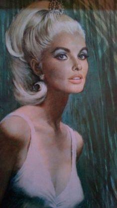 Vintage/retro Louis Shabner framed and glazed print - Vanessa | eBay