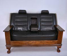 Man Cave Furniture, Car Part Furniture, Automotive Furniture, Automotive Decor, Fine Furniture, Sofa Furniture, Furniture Design, Living Room Sofa Design, Home Living Room