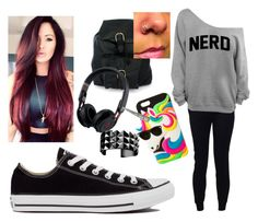 """""""Untitled #48"""" by riasoccer on Polyvore featuring T By Alexander Wang, Converse, NOVICA, Beats by Dr. Dre, claire's and Waterford"""